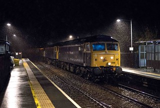 47848, 47815 and 90047 at Metheringham on 06 Feb 16