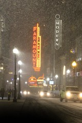 Paramount (Read2me) Tags: winter snow white pree cye boston city night weather storm lights sign neon challengeclubwinner thechallengefactory friendlychallenges gamewinner superherowinner pregamesweepwinner duele theater
