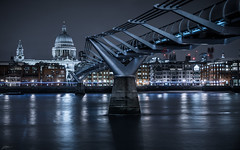 Millennium (ScottSimPhotography) Tags: uk bridge winter england urban cold london thames night lights evening cityscape cathedral britain sony famous sightseeing stpauls visit location millennium millenniumbridge southbank icy londonist visitlondon a6000