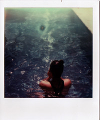 (yssica klein) Tags: travel blue summer brazil vacation portrait holiday girl polaroid sx70 swimmingpool expiredfilm instantfilm theimpossibleproject