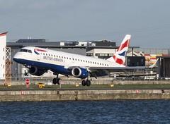 G-LCYU BA Cityfler / British Airways Embraer 190 @ London City Airport, London. (Sw Aviation) Tags: city london airport british ba airways 190 embraer cityfler glcyu