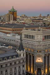La hora azul sobre Madrid (Mara Bellet) Tags: madrid crculodebellasartes horaazul