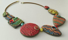 A polymer clay necklace (Olya's making) Tags: necklace handmade polymerclay pendant jewerly olgaperova