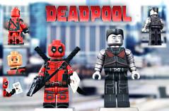 LEGO Deadpool and Colossus (MGF Customs/Reviews) Tags: century lego ryan xmen fox figure ajax custom 20th reynolds teenage warhead colossus minifigure deadpool negasonic