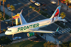 Frontier Airbus A320-214 N228FR (Mark Harris photography) Tags: california plane aircraft aviation airbus lax spotting frontier
