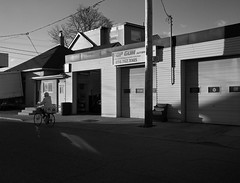 Top Gun (geowelch) Tags: street toronto blackwhite shadows urbanlandscape urbanfragments thestockyards olympusomdem5 panasoniclumixvario1445mm