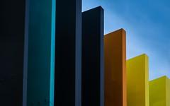 Rainbow-Arco Iris #rainbow (prodicio) Tags: madrid blue orange yellow azul arcoiris rainbow arquitectura colours samsung amarillo naranja arquitecture villaverde rehabilitacin 50200 boetticher nx1000 callecifuentes