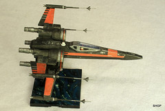 IMG_2126 (harrison-green) Tags: film movie star model fighter force space wing x xwing spaceship wars poe 172 bandai t70 awakens dameron incom