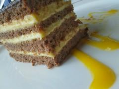7 Layer Washington Apple Cake. (ManOfYorkshire) Tags: food apple cake dessert restaurant washington dish sauce chocolate cream pudding 7 plate layers presentation layered