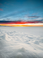 Sunset over the Snow (Andy Hodapp) Tags: sunset snow ice clouds montana bozeman phone hdr nexus snowscape lightroom huawei 6p