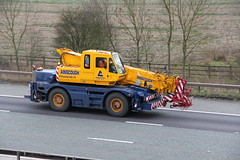 Ainscough Mobile Crane 27th January 2016 (asdofdsa) Tags: road travel motorway crane outdoor transport cranes vehicle trucks m62 haulage hgv ainscough 27thjanuary2016