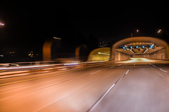 speed limit set to violate (pbo31) Tags: sanfrancisco california winter motion black color night nikon driving traffic infinity pair twin tunnel motionblur bayarea february presidio roadway 2016 lightstream boury pbo31 d810 windowclip presidioparkway