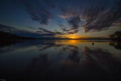Time Lapse Sunset (Mr_Samson) Tags: longexposure sunset sky lake tree evening outdoor 7d canonlens eveninghours longexposurephotography 1018mm canoneos7d canon7d jordanlakestaterecreationareanlakestate efs1018mm jordanlakestate