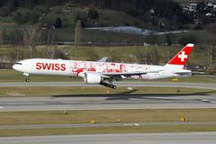 Swiss Boeing 777-300ER; HB-JNA@ZRH;08.02.2016 (Aero Icarus) Tags: plane switzerland aircraft flugzeug zurichairport avion zrh boeing777 swissinternationalairlines zürichkloten zürichflughafen boeing777300er hbjna