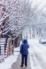 Lost In The Moment (DaSmuggla) Tags: winter portrait blackandwhite toronto storm cold color beautiful beauty photography colorphotography streetphotography wonderland blizzard torontocanada streetsoftoronto thepeopleoftoronto