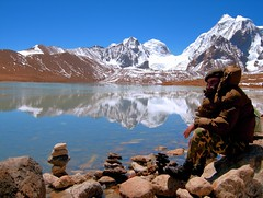Gurudongmar Lake..... Protecting our Border (pallab seth) Tags: travel sky india mountain lake snow cold tourism nature beautiful beauty digital wonderful landscape religious nikon asia tour place wind military peak buddhism tibet divine stunning coolpix hinduism sikkim personnel p3 prayerstone northsikkim jawan nikoncoolpixp3 nikonp3 tibetianplateau gurudongmar gurudongmarlake pallabseth highestfreshwaterlakes  guardingourborder