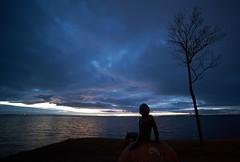 The nymph  [In Explore 12/Feb/2016] (Budoka Photography) Tags: sea seascape silhouette statue coast seaside heaven outdoor bluesky calm serene bluehour hkanolsson holsson shcolsson