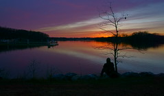Waiting for ex-lover :) (TEO DE THUONG) Tags: sunset people cloud lake sony ngc explore soe twop a6000 simplysuperb artofimages