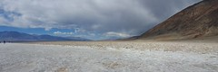 The saltwater flats of Badwater Basin in Death Valley NP