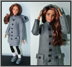 MADE TO MOVE HISPANIC BARBIE 2 (Big-Eyed) Tags: black hat scarf hair asian outfit shoes dress boots handmade coat barbie move made hispanic brunette mattel 2016 handsewed snodata madetomove