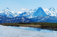 blue (welenna) Tags: blue schnee autumn mountain snow mountains alps water switzerland spring wasser swiss berge alpen eiger mönch berneroberland fruhling wasserspiegel schwitzerland