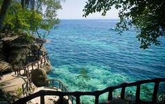 Vinapor Blue Water Resort (amarkgio) Tags: blue summer cliff beach nature water del fun crystal philippines diving resort clear more punta cave carmen norte diwata mindanao seawater agusan cavepool vinapor