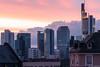 Frankfurt Skyline Skyporn (frescographic) Tags: city sunset sun skyline clouds skyscraper sonnenuntergang nightshot sundown dusk frankfurt wolken dämmerung goldenhour mainhatten commerzbank skyporn nikon1 goldenestunde