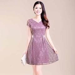 ชุดลูกไม้ผสมผ้าไหม แฟชั่นเกาหลีสวยดีไซน์หรูคอวีเอวคอด นำเข้า ไซส์Lและ2XL สีม่วง - พร้อมส่งTJ7678 ราคา1990บาท เข้าชมและสั่งซื้อสินค้าได้ที่ : http://www.lotusnoss.com ลิงค์สินค้า : http://bit.ly/1aUlZf2  ชุดลูกไม้ผสมผ้าไหม ชุดราตรีสั้น สวยหรูแฟชั่นเกาหลีแข