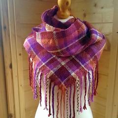 Cowl (sueingram24) Tags: scarf weaving handspun handwoven cowl