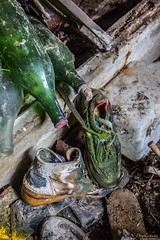 03042016-IMG_1138 (n-devil) Tags: bottle ruine abandon drome bouteille chaussure moisi