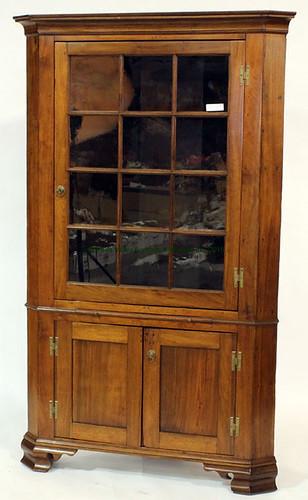 Grant County, VA 12-Pane Walnut Corner Cupboard - $1,210.00 (Sold March 20, 2015)