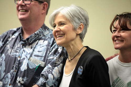 Jill Stein with supporters