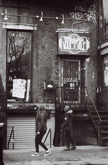 Trash & Vaudeville closed (DoubleBen) Tags: new leica york city nyc film sign trash 35mm store punk closed village kodak manhattan greenwich front east storefront 40mm vaudeville vilage 70mm 125px afc1