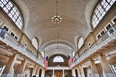 Ellis island, main hall. Summer 2013. (Emanuele Barcali) Tags: plaza city shadow vacation bw usa ny newyork black building bus statue museum brooklyn night skyscraper river liberty grey monocromo us newjersey memorial jerseycity day state withe centralpark harlem manhattan library taxi worldtradecenter broadway newyorkpubliclibrary 5thavenue timessquare brooklynbridge figure eastriver jersey guggenheim hudson marines chrysler fifthavenue rockefeller met avenue apollo 5th bigapple metropolitan metropolitanmuseum ellisisland publiclibrary guggenheimmuseum thebigapple blackwithe apollotheater libertystatue metropoli newworldtradecenter neverforgotten avenuegrand oneworldtradecenter centerrockefellerempire buildingempirechrysler evenuelexington centralgrandcentralterminal buildingchryslerstationrailwaypark