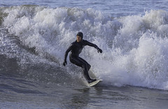 Surfer (Lloyd - Green) Tags: winter water wales canon waves surfing aberystwyth watersports sportsphotography
