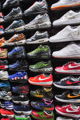 Flight Club NYC (lilasswipe) Tags: nyc max art myself air sneakers nike flightclub flatbushzombies wallofair