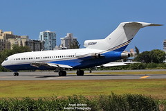 Private / Boeing 727-21 / N30MP departure from TJSJ. (Angel Moreno Photography) Tags: plane private airplane airport puertorico aircraft sanjuan boeing departure b727 boeing727 planespotter tjsj n30mp boeing72721