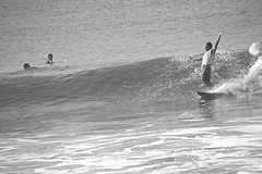 Free spirits (Edson-Garcia) Tags: life sea summer blackandwhite sports surf waves guatemala trips surfers surfspot elparedon