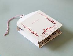 4 (Elsita (Elsa Mora)) Tags: christmas paperart card redandwhite papercraft holidaycard papercutout elsita papercutting elsamora
