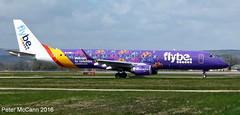 G-FBEJ Em190 Glasgow April 2016 (pmccann54) Tags: embraer190 flybe gfbej welcometoyorkshirelogo