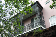 New Orleans - Pink And Green Balcony (Drriss & Marrionn) Tags: street usa house building architecture buildings outdoor balcony neworleans balconies gardendistrict streetviews neworleansla housestyle neworleanscitytrip