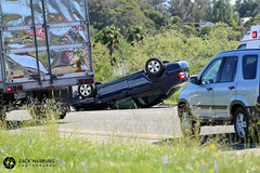 Highway 101 Rollover (zwarburg) Tags: santabarbara chp highway101 amr californiahighwaypatrol americanmedicalresponse vehicleaccident vehiclerollover vehiclecrash sbcofd santabarbaracountyfiredepartment sbcfd