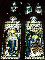 Retford - St Swithun's - Kempe Glass (Glass Angel) Tags: tower stainedglass angels warmemorial nottinghamshire retford kempe stswithun