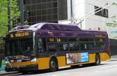 King County Metro 2015 New Flyer XT40 4343 (zargoman) Tags: seattle county travel bus electric king metro trolley transportation transit kiepe elektrik kingcountymetro newflyer lowfloor xcelsior