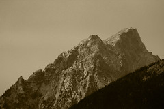 View from Colter Bay (RPahre) Tags: mountains monochrome sepia mono grand wyoming grandtetons teton grandtetonnationalpark
