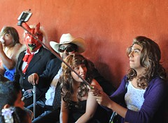 Oaxaca Tilcajete Selfie Stick Mexico (Ilhuicamina) Tags: costumes people fiestas mexican cameras oaxaca carnaval stick selfie zapotec tilcajete
