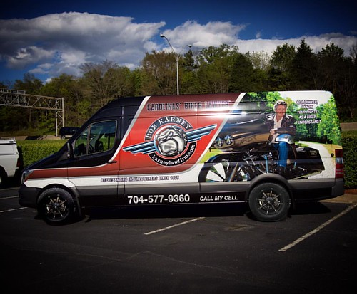 Bob Karney - Best biker lawyer in the Carolinas got his Sprinter decked out @ #charlottevehiclewraps #3mwraps #rollingbillboard