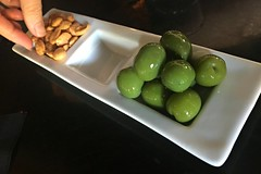 Shiny Castelvetranos (Pedestrian Photographer) Tags: california green bar la losangeles los shiny angeles finger small nuts almond olive plate almonds olives april appetizer losfeliz nut feliz pick app picking apr apps ribbet covell 2016 marcona castelvetrano castelvetranos