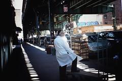 Break time at the Matzah Factory. (Juliet everywhere) Tags: nyc newyorkcity newyork streets beautiful brooklyn composition takumar sony 28mm colorphotography streetphotography streetscene newyorker williamsburg streetphoto colorphoto filmlens sonyalpha peopleofnewyork sonyimages sonynex