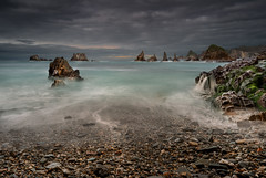 La Gueira (Marce Alvarez.) Tags: landscape atardecer mar nikon asturias paisaje cantabrico acantilados playadelagueira marcealvarez